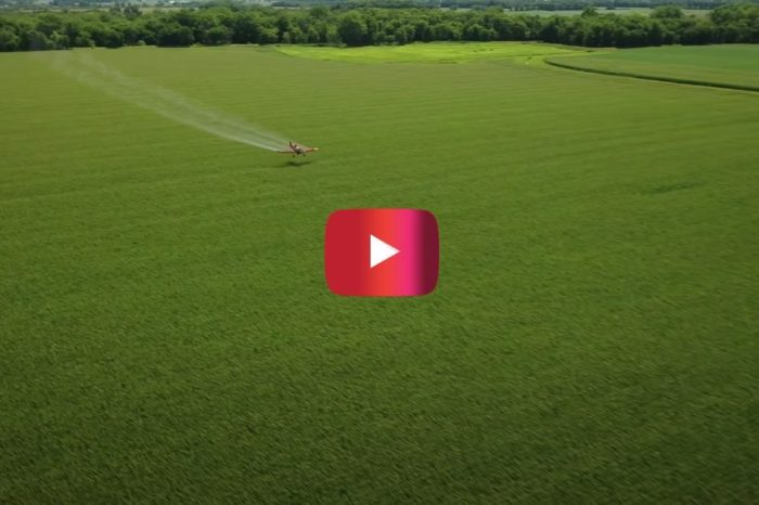 Crop Duster Sprays Indiana Field at 135 MPH