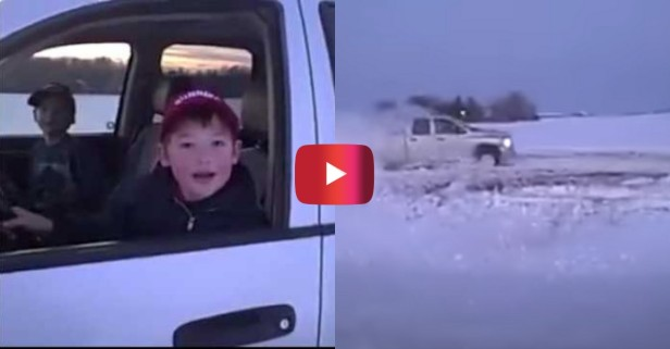 Country Kids Rip Donuts in Dad's Truck for Priceless Video