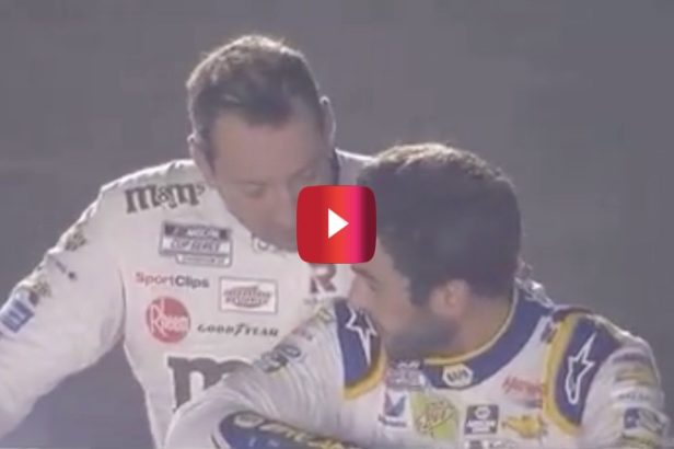 Kyle Busch Comforts Chase Elliott in Rare Post-Race Moment