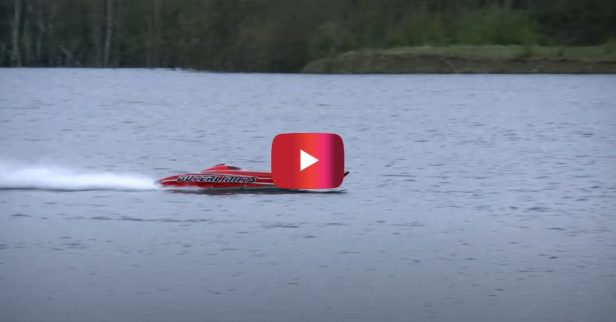Massive RC Powerboat Hits 80 MPH on the Water