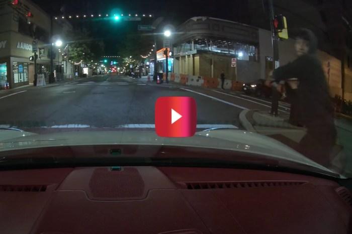 Skateboarder Smashes Windshield in Wild Video