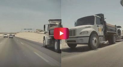 tesla autopilot dodges truck