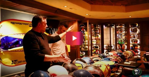 Tony Stewart Shows Off His Impressive Helmet Collection