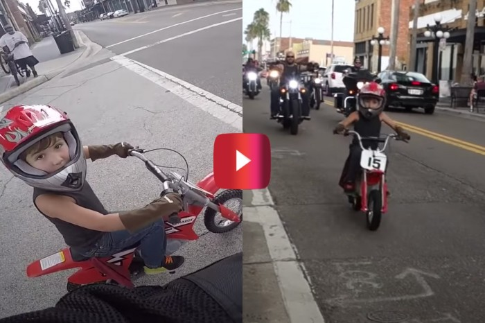 6-Year-Old Leads Motorcycle Ride in Awesome Video