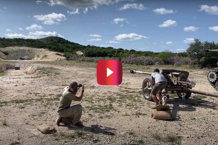 Anti-Tank Gun vs. Old Chevy Truck for Epic Destruction