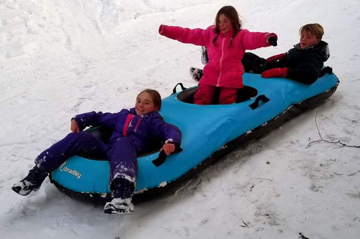 This 3-Person Snow Tube Will Take Snow Tubing to a New Level of Fun