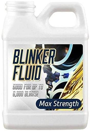 Blinker Fluid-HAND HELD VERSION-Hilarious Gag Gift-Stocking Stuffer-Car Prank-8 oz EMPTY Bottle