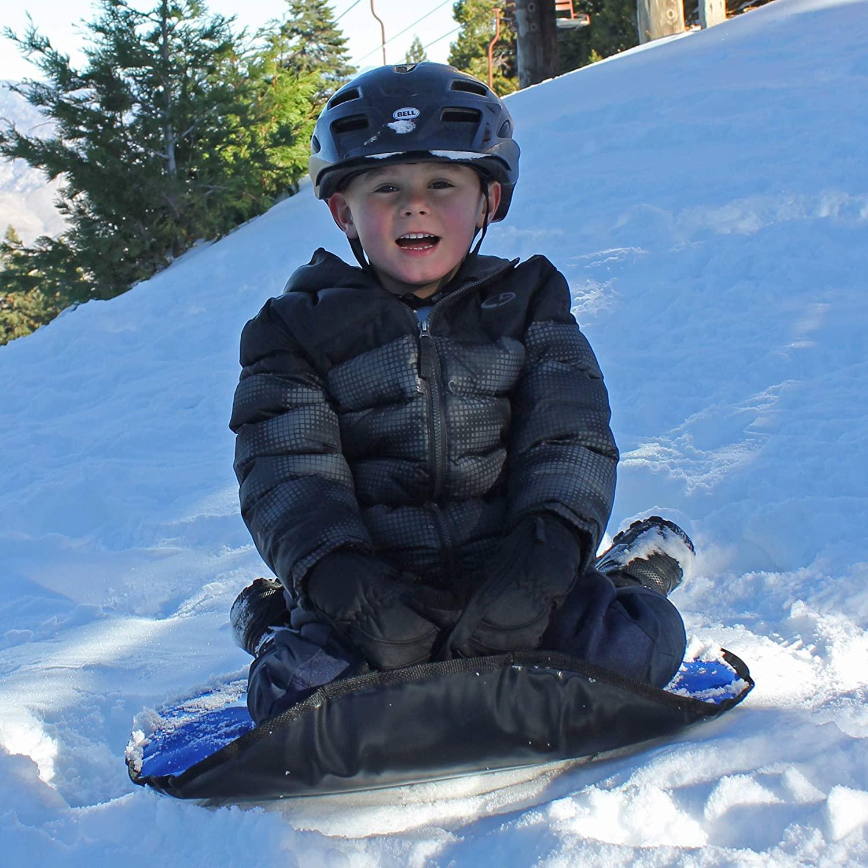 "Magic Carpet 36"" Flexible Snow Sled Saucer - Snow Tube Insert (Bright Blue)"