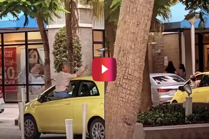 Florida Woman Flipping Double Bird Crashes Into Parked Car
