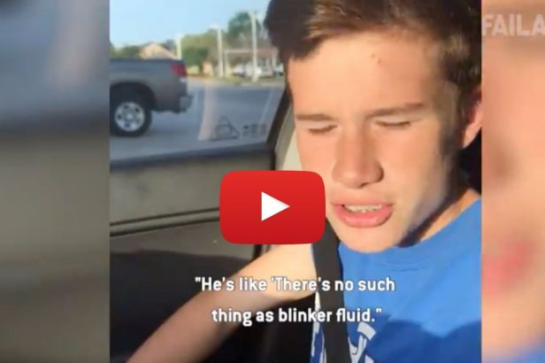 """There's No Such Thing as Blinker Fluid"": Mom Pranks Son In Epic Way"