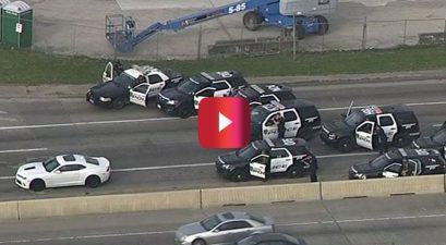 camaro police chase