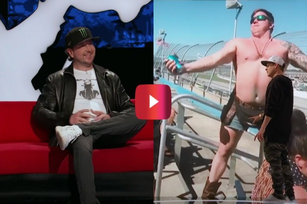 """Kurt Busch Watches Crazy NASCAR Fan Videos on MTV's """"Ridiculousness"""""""