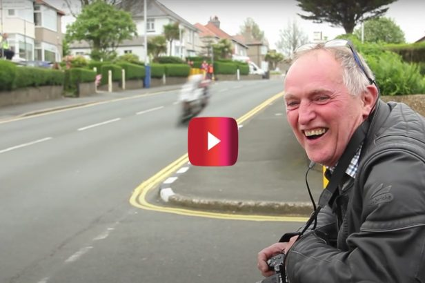 Dad's Reaction to High-Speed Motorcycle Race Is Hilarious and Heartwarming