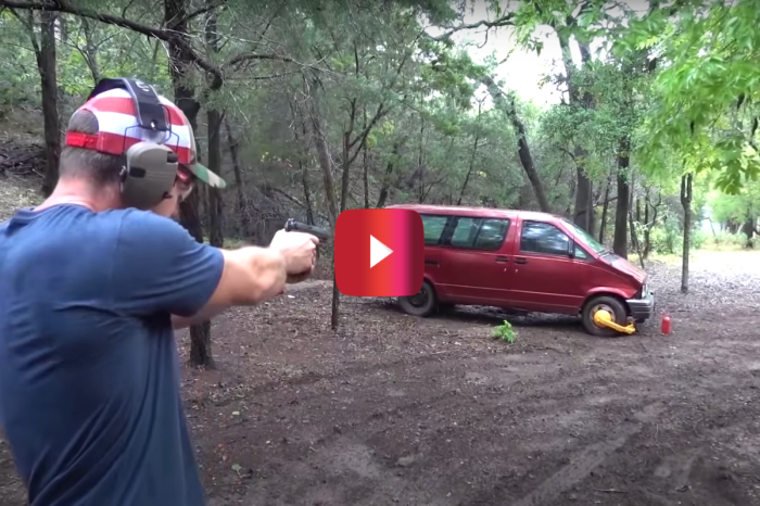Demolition Ranch Shoots at Tire Boot for Badass Video