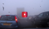 Multiple Car Pile-up in Fog