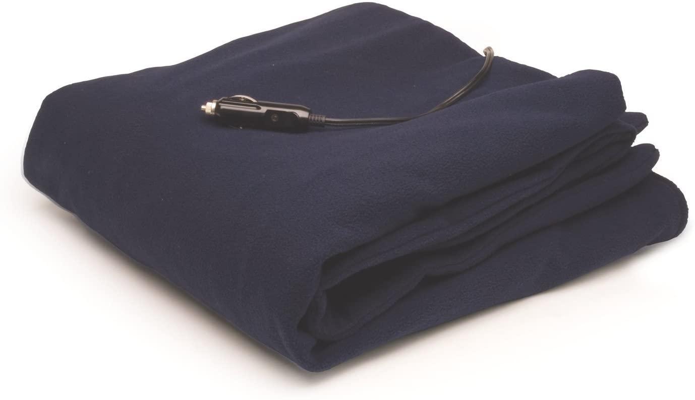 RoadPro RPHB-110DB 12-Volt Polar Fleece Heated Travel Blanket, (58 x 42.5 Inch)