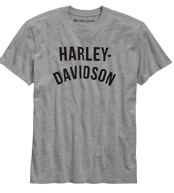 Harley-Davidson Men's Graphic Font Slim Fit Tee, Grey