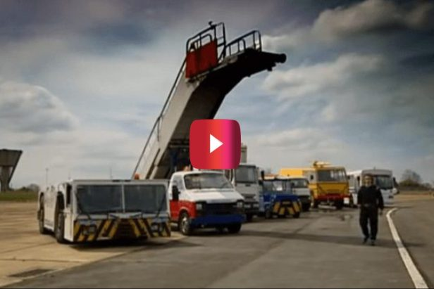 "Airport Vehicle Racing Gets Destructive in Classic ""Top Gear"" Episode"