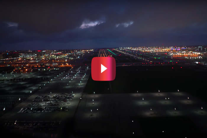Incredible 4K Footage Shows Boeing 777 Night Landing