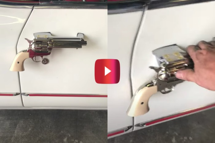Man Fits Replica Colt .45 Door Handles to '67 Cadillac