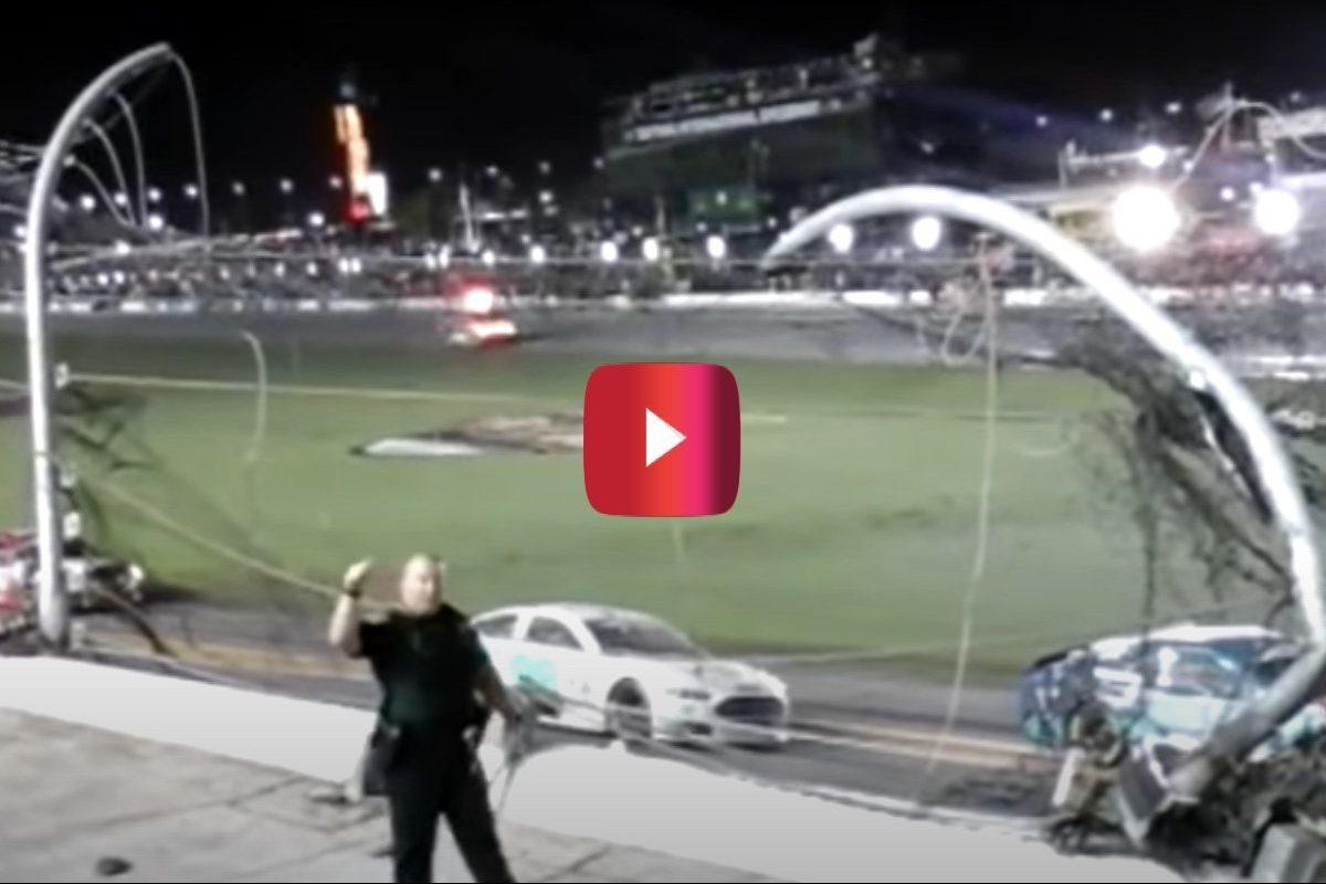 fan video of austin dillon crash at 2015 daytona 500