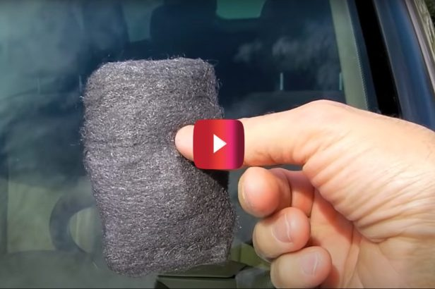 DIY Pro Shows How to Super Clean Your Windshield With Steel Wool