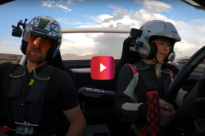 Ken Block's 14-Year-Old Daughter Gets Drift Lessons From an Iconic Champ
