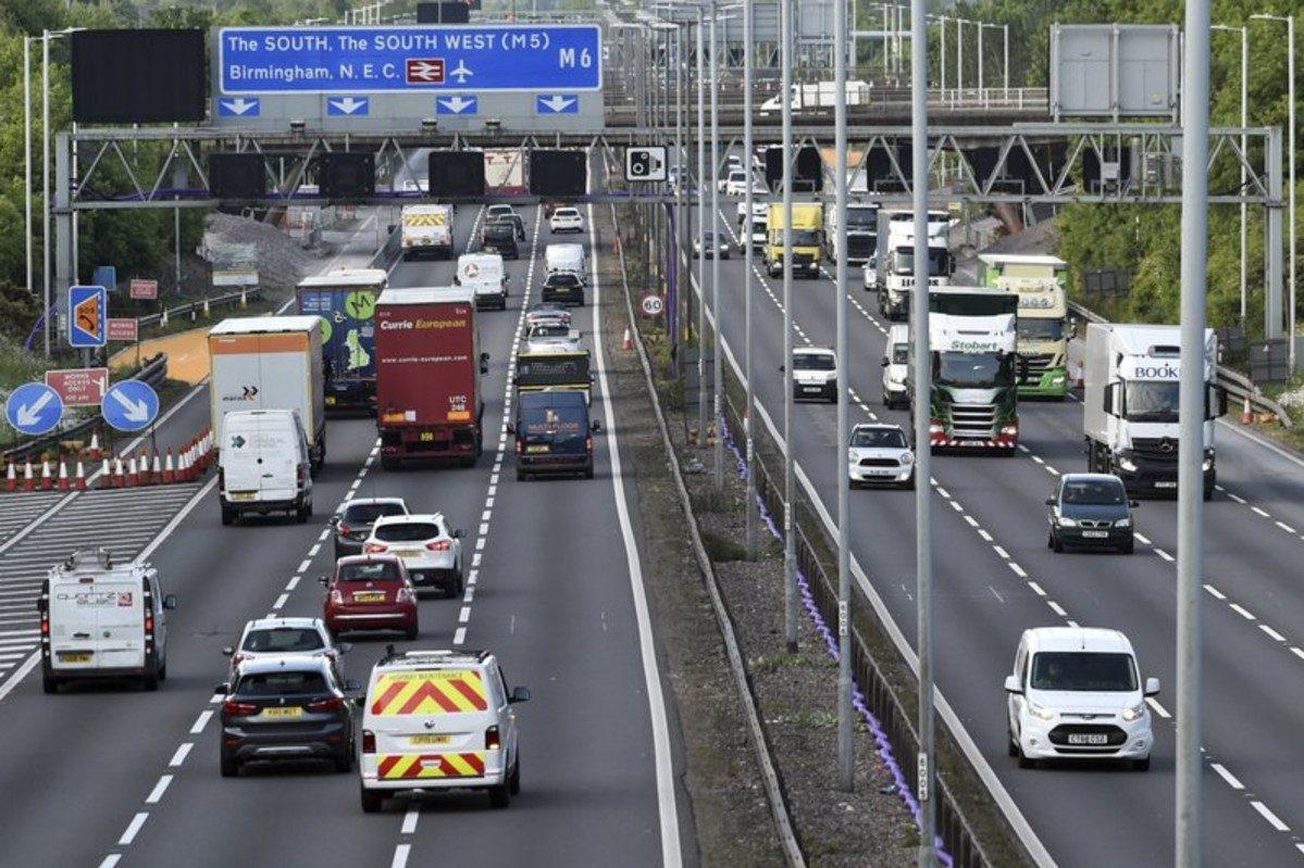 m6 motorway britain