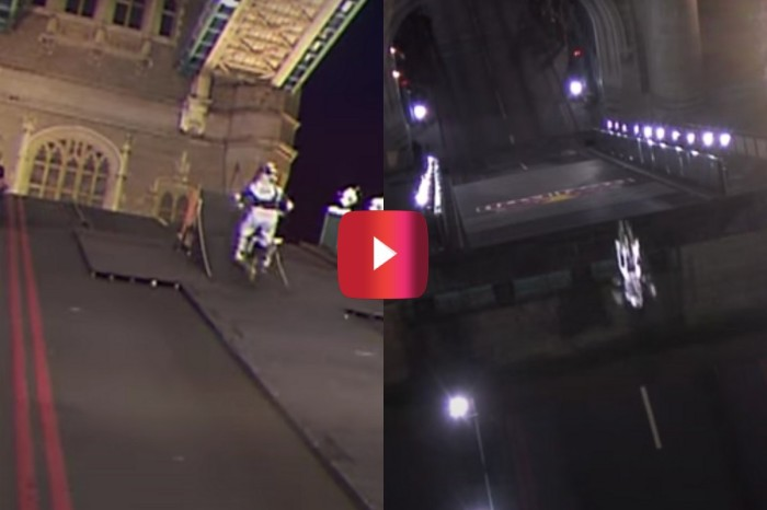 Motocross Legend No-Handed Backflips Over Iconic Bridge