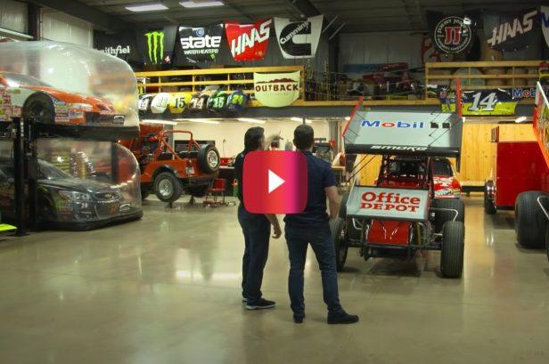 Tony Stewart Gives Jeff Gordon a Tour of His Crazy Car Collection