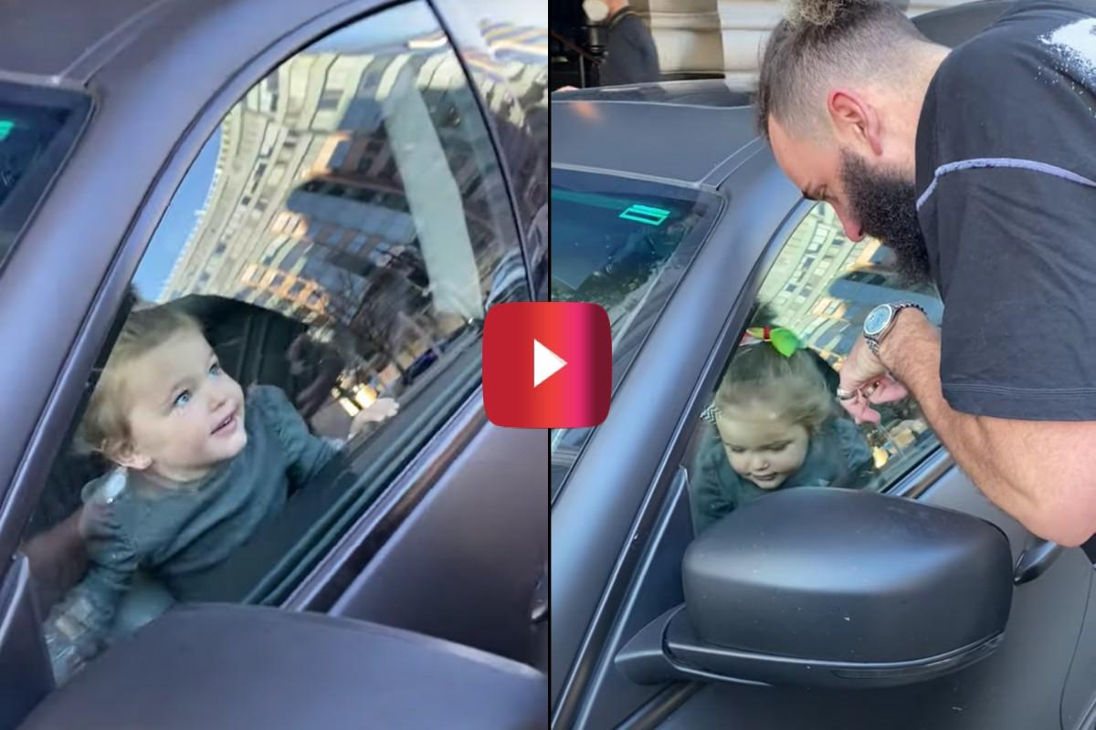 2-year-old in locked maserati