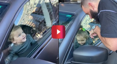2-year-old in locked maserati
