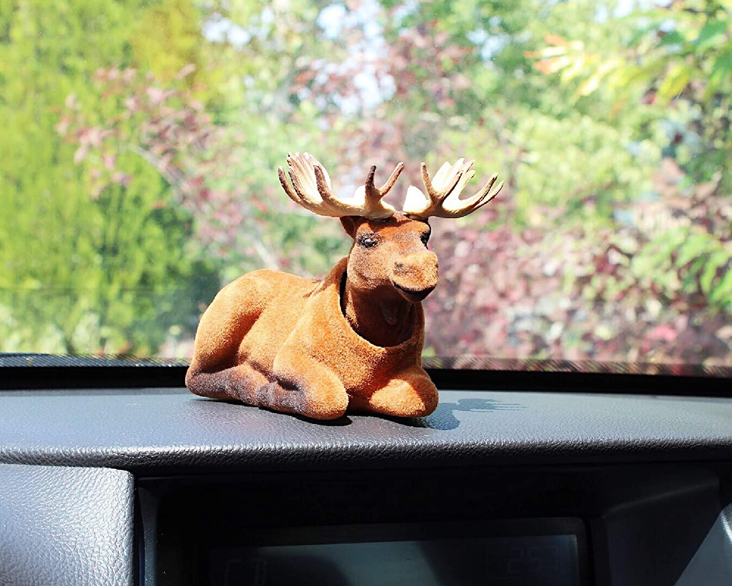 Batty Bargains Mighty Bobblehead Moose with Auto Dashboard Adhesive (Light Brown)