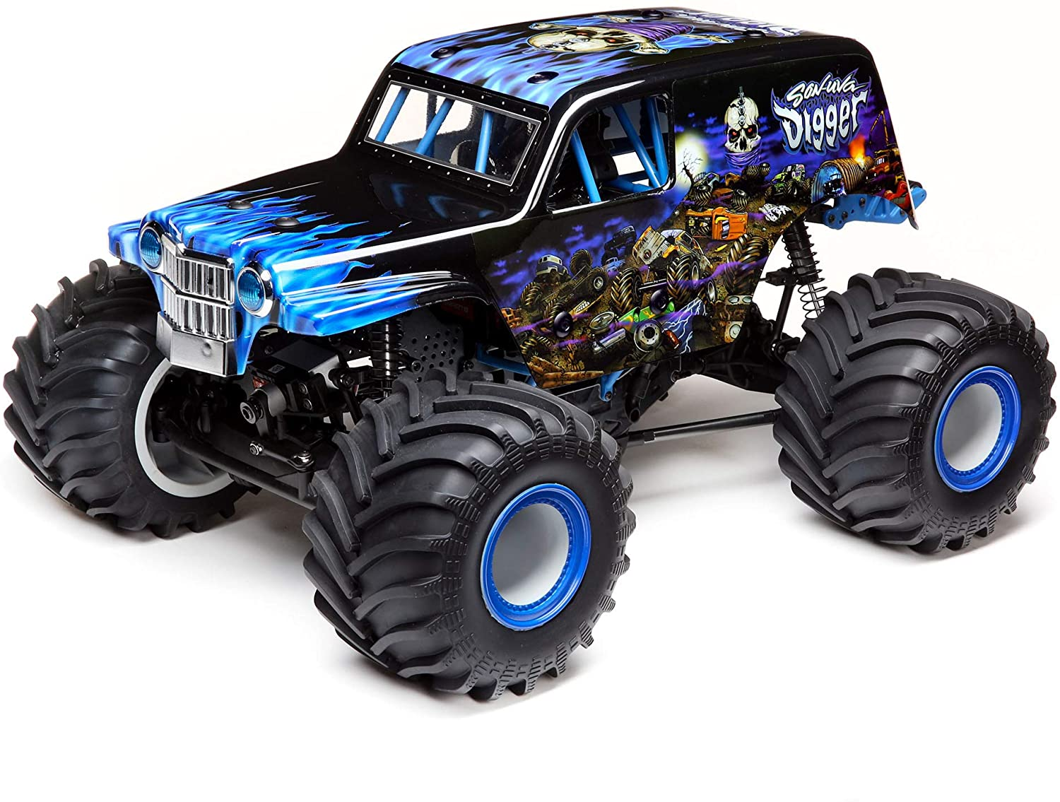 Losi LMT 4WD Solid Axle Monster Truck RTR, Son-uva Digger, LOS04021T2