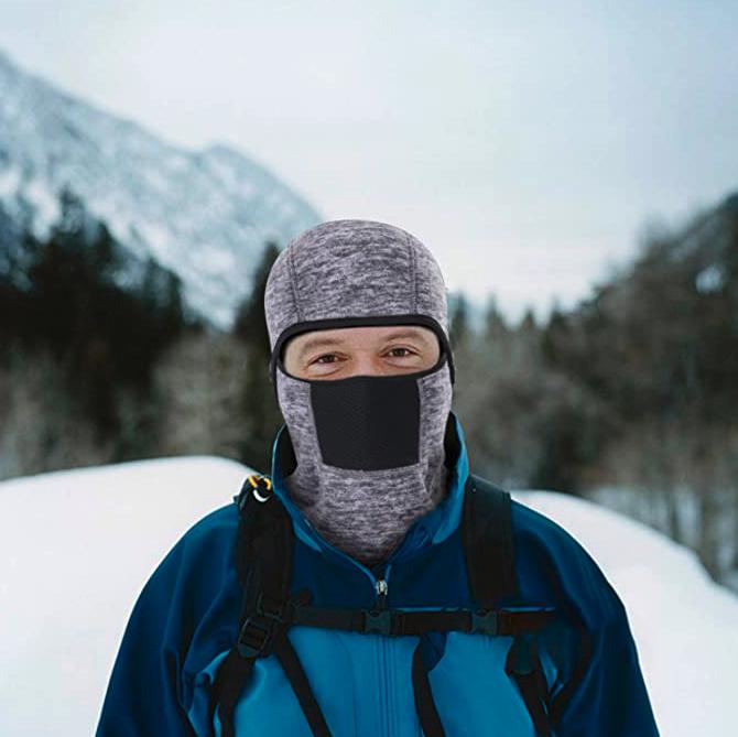 THINDUST Winter Balaclava - Fleece Motorcycle Skull Full Face Mask Thermal Windproof Ski Head Hood for Men and Women