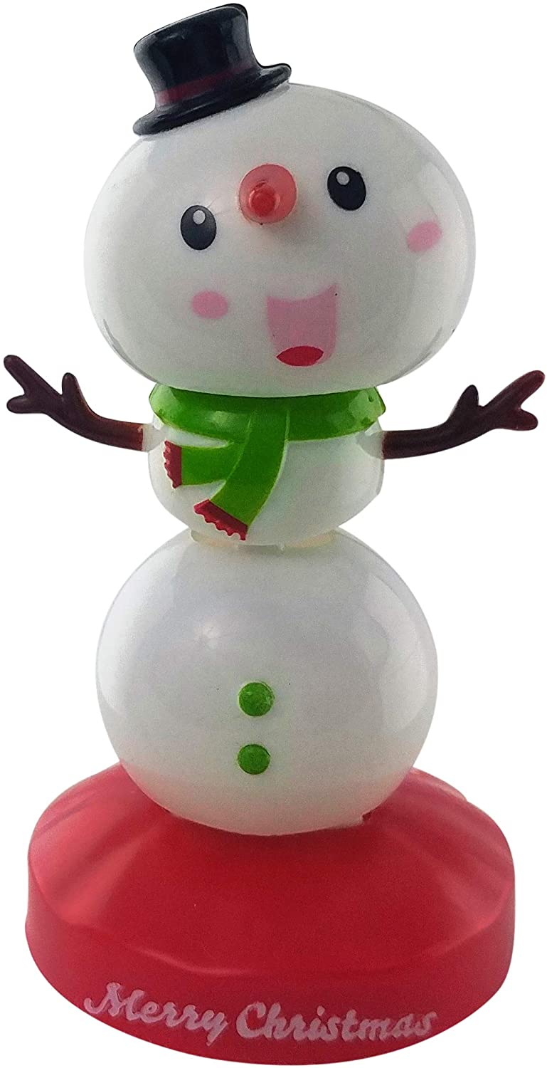 Solar Dancing Snowmen Christmas Decorations | Solar Toy Snowmen Decorations for Home Kitchen Desk,Office or Car | Dancing Dashboard Bobbleheads
