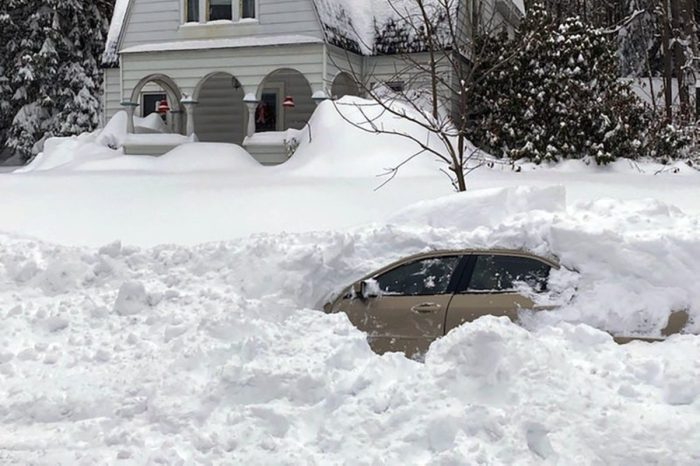 Driver Trapped in Car for 10 Hours After Being Buried by Snow Plow
