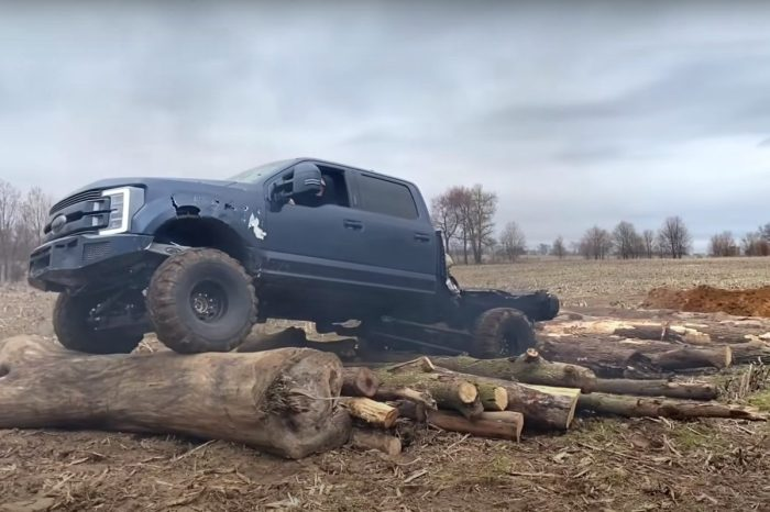Extreme Logging in a F-350? Sign Us Up!