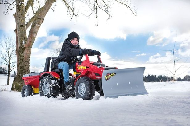 This $77 Snow Plow Toy Lets Kids Clear Snow With Dad