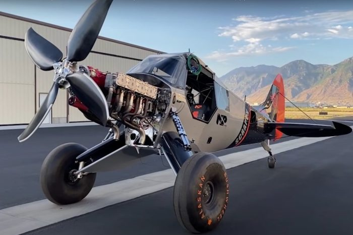Engineer Crams Monstrous 13-Liter Engine Into a Small Bush Plane