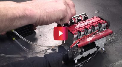 4-cylinder Nitro RC engine 13500 rpm