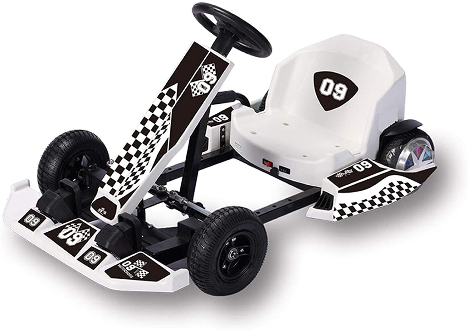 Boddenly Electric Go Kart,36V Battery Powered 4 Wheel Racer for Kids,Kids' Pedal Cars for Outdoor, Adjustable Go Kart,Suitable for Different Driving Ages,Max Load 143Lbs