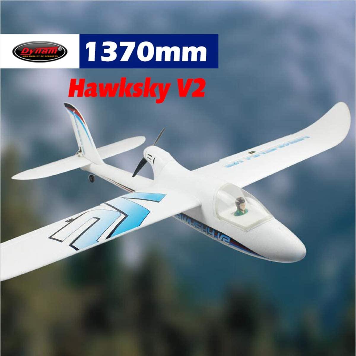 DYNAM RC Trainer Airplane Hawksky V2 1370mm Wingspan-PNP