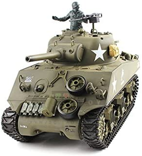 HengLong 1/16 Scale Radio Remote Control US M4A3 Sherman (105mm Howitzer) Tank Air Soft RC Battle Tank Smoke & Sound
