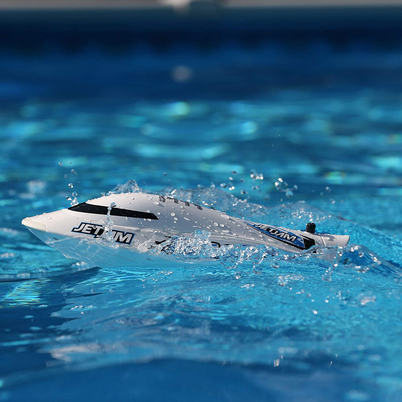 "Pro Boat Jet Jam 12"" Pool Racer Brushed RTR, White, PRB08031T2"