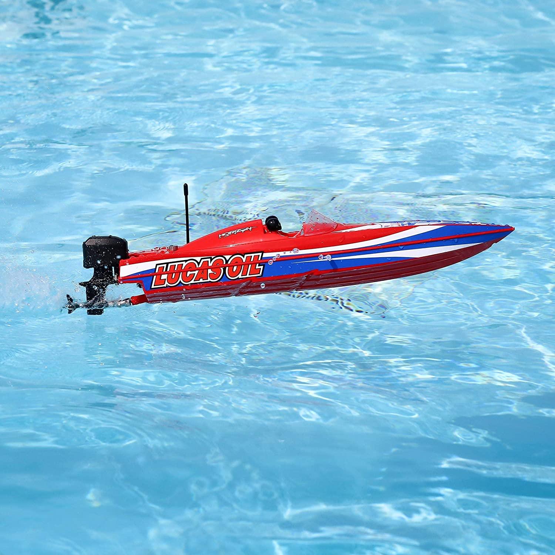 """Pro Boat Lucas Oil 17"""" Power Boat Racer Deep-V RTR, PRB08044T2"""