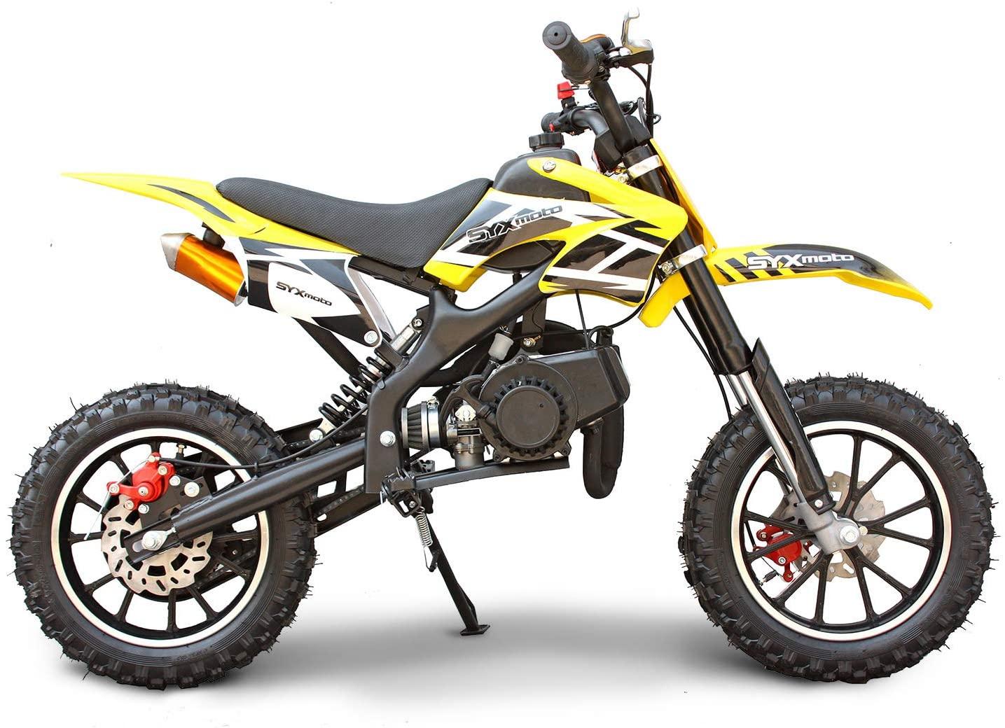 SYX MOTO Kids Dirt Bike Holeshot 50cc Gas Power Mini Dirt Bike Pit Bike Fully Automatic Transmission