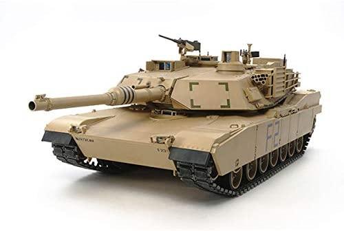 TAMIYA America, Inc 1/16 U.S. Main Battle Tank M1A2 Abrams Full-Option Kit, TAM56041