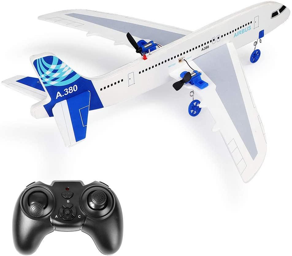 YSTFLY RC Plane Remote Control Airplane A380 DIY Model Plane, 2.4Ghz RTF RC Plane Ready to Fly, RC Aircraft for Kids & Beginner