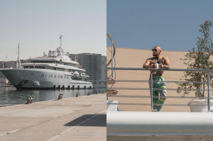 Conor McGregor Showed Up to Fight Island on a 300-Foot Superyacht